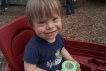 Hanging out in the wagon at the pumpkin patch a few weeks ago
