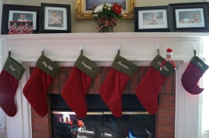 Lots of stockings across our mantle now