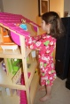 Santa brought Campbell a HUGE dollhouse!