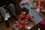 She got an American Girl doll that looks like her. A big hit!