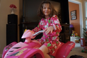 Campbell and the Barbie 4-wheeler